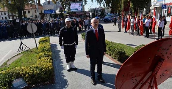 29 Ekim Cumhuriyet Bayramı Çelenk Koyma Töreni Yapıldı