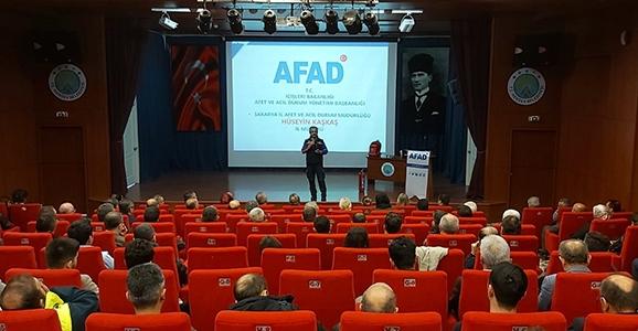 AFAD'dan Hendek'te TAMP Bilgilendirmesi