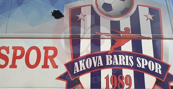 Akova Barışspor Otobüsüne Saldırı