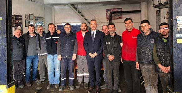 Babaoğlu Hendek Küçük Sanayi Sitesi'ni Ziyaret Etti