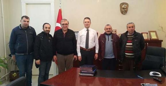 BASIN MENSUPLARI KAYMAKAM BURHAN'I ZİYARET ETTİ