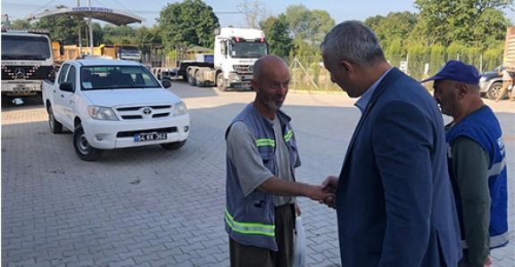 Babaoğlu Belediye Personeli İle Bayramlaştı
