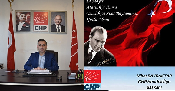 Bayraktar, 19 Mayıs Atatürk'ü anma gençlik ve spor bayramını kutladı