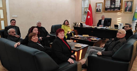 Bayraktar'dan  Babaoğlu'na Ziyaret