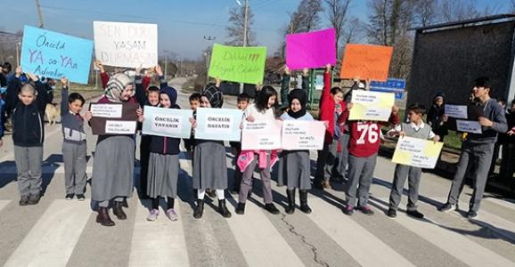 Çamlıca'lı Öğrencilere Trafik Bilinci