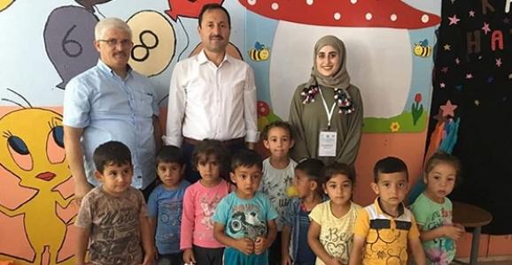 Çuhadar'dan Göçer Ailelerin Çocuklarına Ziyaret