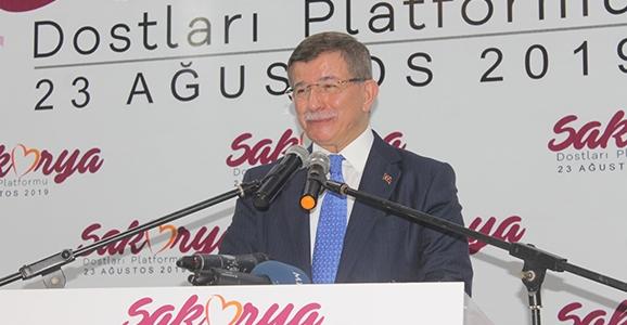 Davutoğlu Sakarya'da Konuştu