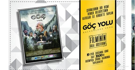 Elveda Balkanlar Filminin Galası Hendek'te