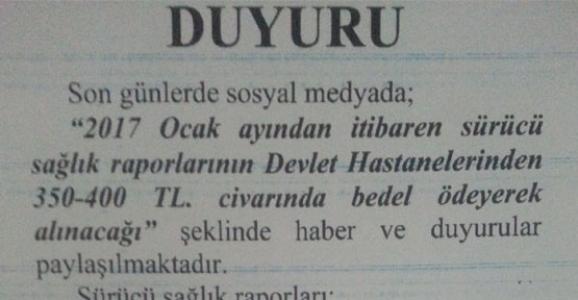 EMNİYET'TEN EHLİYET DUYURUSU