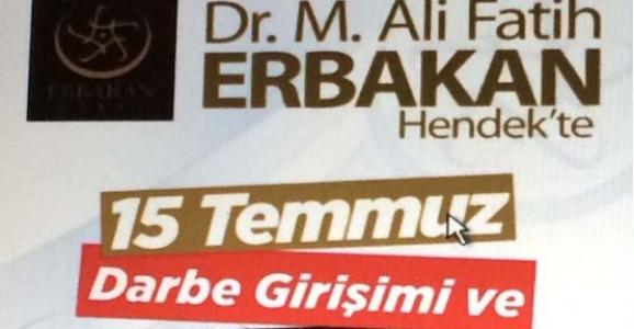 ERBAKAN HENDEK'E GELİYOR