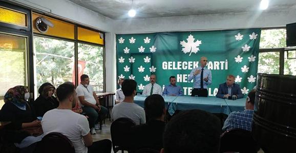 Gelecek Partisi Hendek'te İlk Toplantısını Yaptı