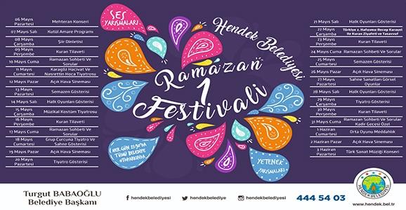 Hendek Belediyesi 1. Ramazan Şenlikleri