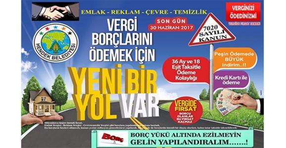 HENDEK BELEDİYESİ'NDEN YAPILANDIRMA ÇAĞRISI