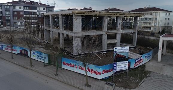 Hendek İtfaiye Hizmet Binası Yükseliyor
