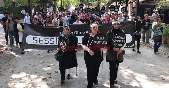Hendek Kadına Şiddete Sessiz Kalmadı