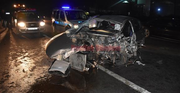 Hendek TEM Bağlantı Yolunda Kaza 1 Yaralı