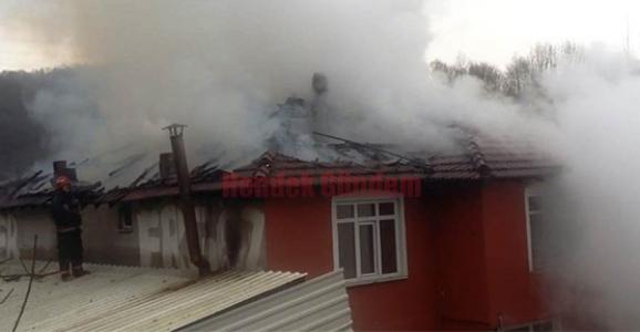 Hendek'te Yangın