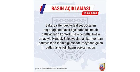 Jandarma Genel Komutanlığından Hendek Açıklaması
