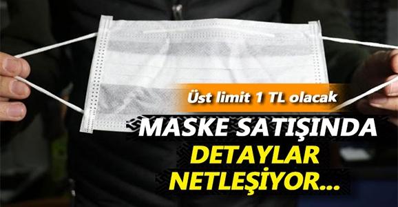 Maske Satışı Fiyatında Üst Limit 1 TL