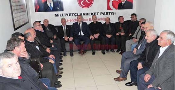 MUHTARLAR DERNEĞİNDEN MHP'YE ZİYARET