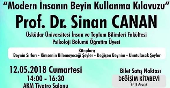 PROF. DR. SİNAN CANAN İLK KEZ SAKARYA'DA