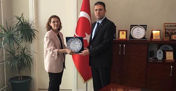 SGK Müdürü Turan'dan Kaymakamı Burhan'a Ziyaret