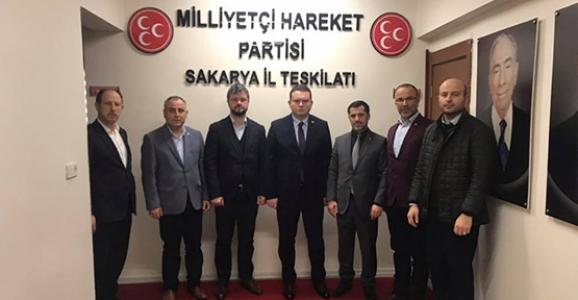 Sofu'dan MHP Sakarya İl Yönetimine Ziyaret