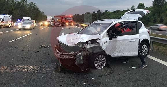 TEM'de Feci Kaza, 2 Ölü 4 Yaralı