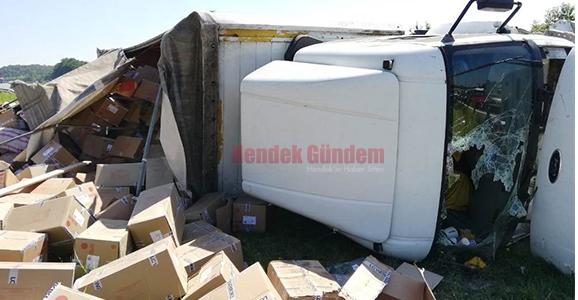 TEM'de Kaza 2 Yaralı