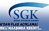 """SGK'dan Son Dakika """"Emekli Maaşı"""" Açıklaması"""