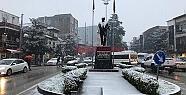 Hendek Merkezde Kar Yağışı Başladı...