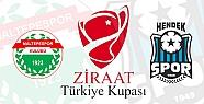 Hendekspor'un Türkiye Kupası Maçı...