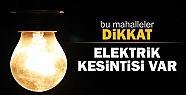 HENDEK'TE PAZAR GÜNÜ ELEKTRİKLER KESİLECEK