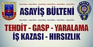 JANDARMA ASAYİŞ BÜLTENİ