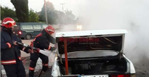 Yeşilyurt'ta Araç Yangını