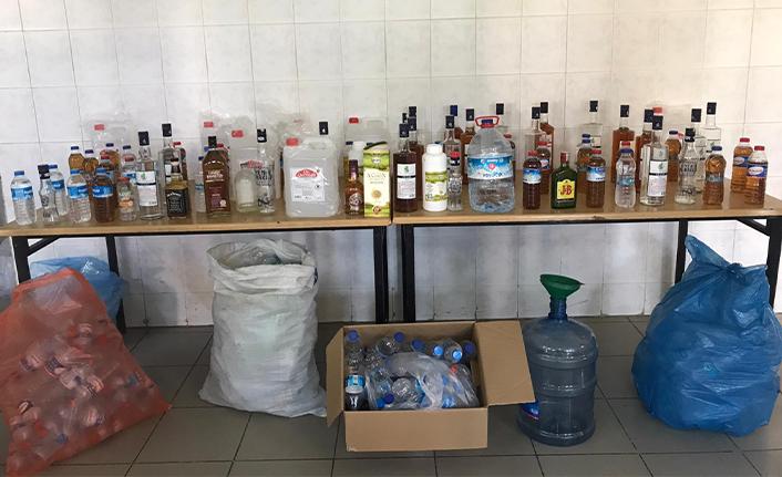 Hendek'te Çok Sayıda Sahte İçki Geçirildi