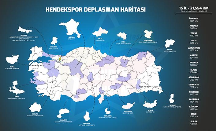 Hendekspor'un Deplasman Haritası