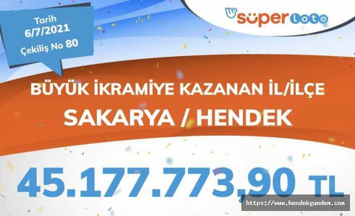 45 Milyon TL Hendek'e Çıktı