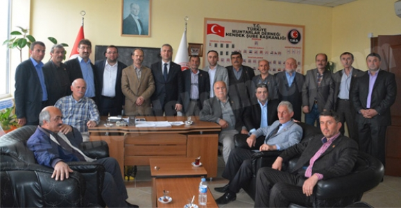 HENDEK MHP'DEN MUHTARLAR DERNEĞİNE ZİYARET