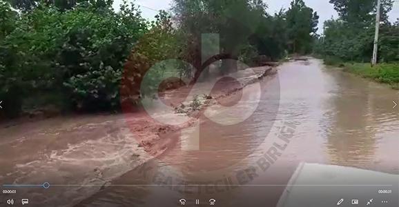 Hendek'te yağış hayatı felç etti