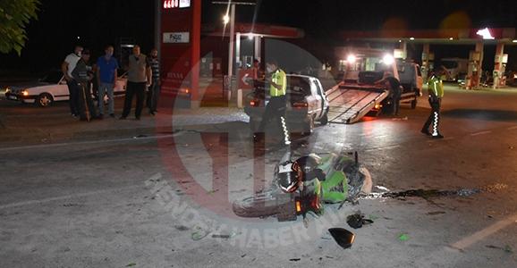 Motor ve Otomobil Çarpıştı 4 Yaralı