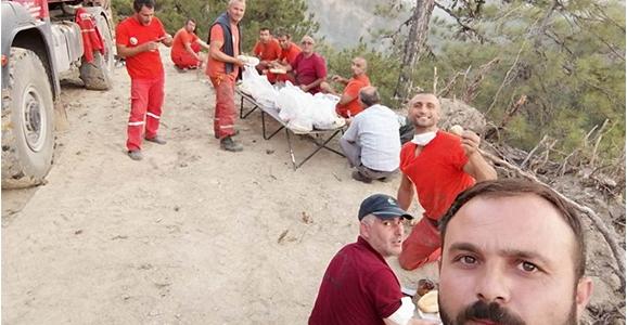 Orman İşletmenin İtfaiyecileri Canla Başla Çalıştılar