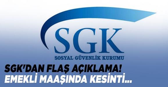 """SGK'dan Son Dakika """"Emekli Maaşı"""