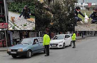 Hendek Polisi Sokak Hayvanlarını Unutmadı