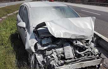 TEM Otoyolunda Kaza 1 Yaralı