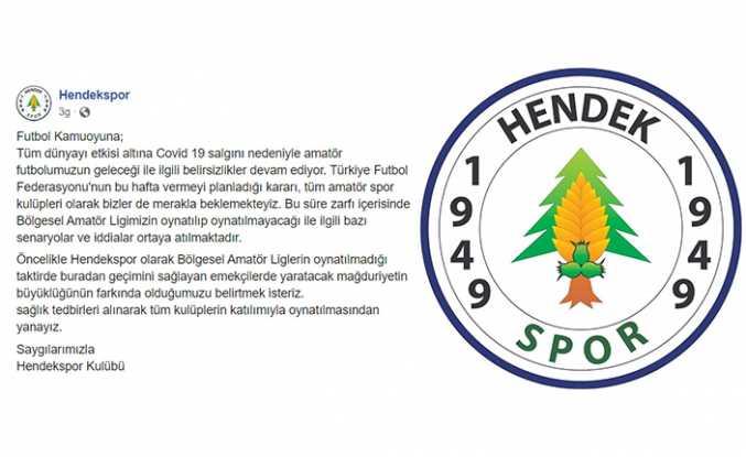 Hendekspor'dan Oynatılsın Açıklaması