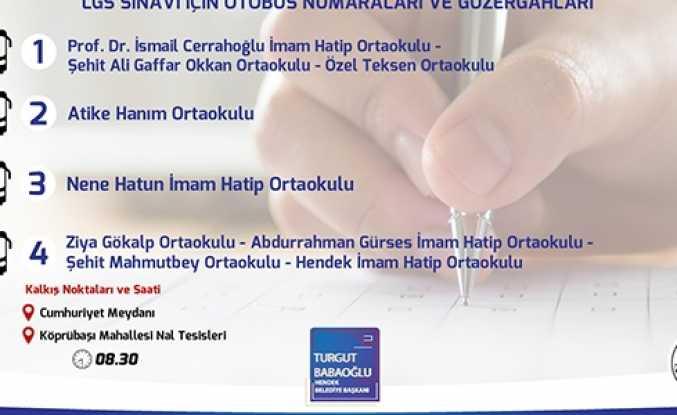 Hendek Belediyesinden Sınav Günü Ücretsiz Ulaşım